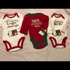 NWT newborn Christmas onesies